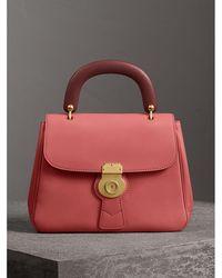 Burberry - The Medium Dk88 Top Handle Bag Blossom Pink - Lyst
