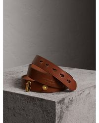 Burberry - Bridle Leather Belt - Lyst