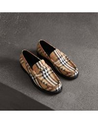 f0ddd655b88 Lyst - Burberry Exploded Check Jute Cotton Slip-on Trainer in Blue ...