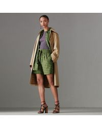 Burberry - Detachable Hood Tropical Gabardine Car Coat - Lyst