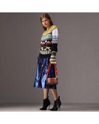 Burberry - Ruffle Detail Lamé Skirt - Lyst