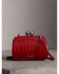 Burberry - Small Alligator Frame Bag - Lyst