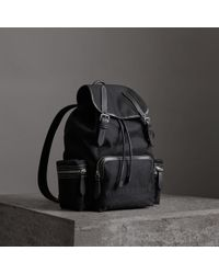 Burberry - The Large Rucksack In Cotton Canvas - Lyst
