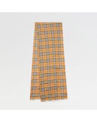 Burberry - Vintage Check Lightweight Wool Silk Scarf - Lyst