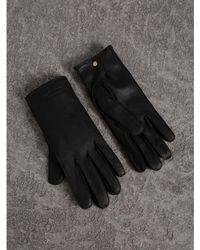 Burberry - Deerskin Gloves - Lyst