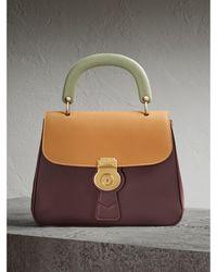 Burberry - The Medium Dk88 Top Handle Bag Dark Chocolate/ochre Yellow - Lyst