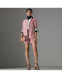 Burberry - Painted Check Cotton Shirt - Lyst