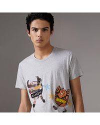 Burberry - Creature Motif Cotton T-shirt - Lyst