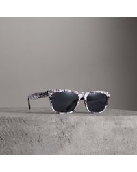 Burberry - Doodle Square Frame Sunglasses - Lyst