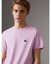 Burberry - Cotton Jersey T-shirt - Lyst