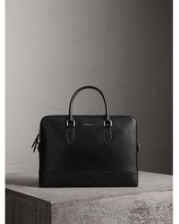 Burberry - The Slim Barrow In London Leather And Alligator Black - Lyst