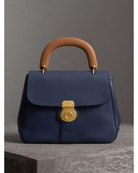 Burberry - The Medium Dk88 Top Handle Bag Ink Blue - Lyst
