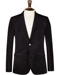 Burton - Black Slim Fit Velvet Blazer - Lyst