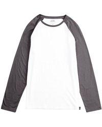 Burton - Grey And White Long Sleeve Raglan T-shirt - Lyst