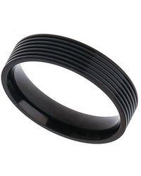 Burton - Black Band Ring - Lyst