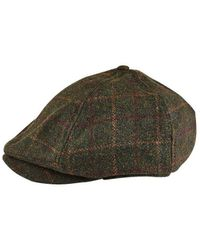 fb3f769a3e9 Burton - Green Checked Baker Boy Hat - Lyst
