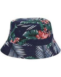 7011be9813f Billabong Floral Bucket Hat in Blue for Men - Lyst