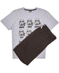 Burton - Grey Storm Trooper Pyjama Set - Lyst