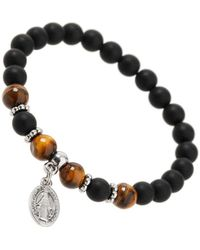 Burton - Black Beaded Charm Bracelet - Lyst