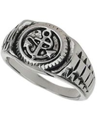 Burton - Anchor Signet Ring - Lyst
