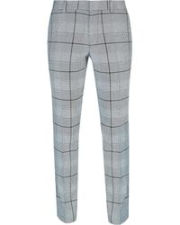 Burton Black And White Graphic Check Slim Fit Suit Trousers