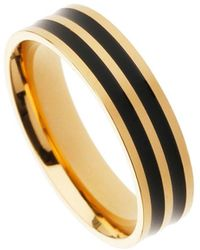 Burton - Gold Line Rings - Lyst