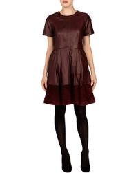Coast Lowis Leather Dress - Lyst