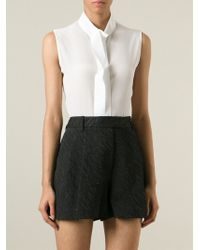 Guy Laroche - Standing Collar Sleeveless Shirt - Lyst