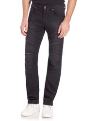 True Religion | Geno Moto Slim Straight-leg Jeans | Lyst