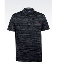 Armani Jeans Polo Shirt In Striped Jersey - Lyst