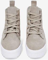 Nasty Gal Shellys London Tread Suede Sneaker - Lyst