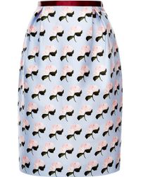 Mother Of Pearl Evelyn Silk Cotton Floral Mini Skirt - Lyst