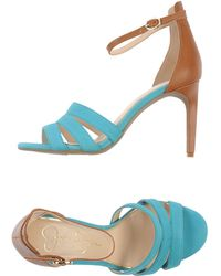 Jessica Simpson Blue Sandals - Lyst