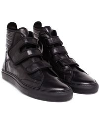 Raf Simons Leather High-Top Trainers - Lyst
