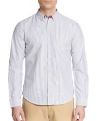 Life After Denim Regular-Fit Guide Pencil Striped-Cotton Sportshirt - Lyst
