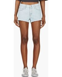 Rag & Bone Light Blue Denim Cut_off Shorts - Lyst