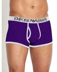 Emporio Armani Mens Contrast Trunks - Lyst