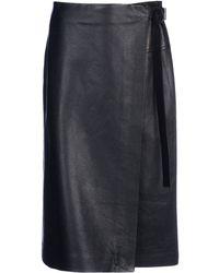 Reed Krakoff Leather Skirt - Lyst