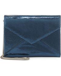 Romy Gold - Metallic Leather Flap-Top Wallet - Lyst