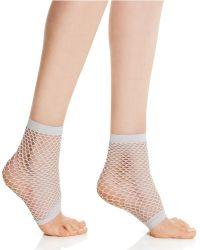 Vince Camuto - Open Toe Fishnet Anklet Socks - Lyst