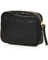 Topshop Mini Twist Leather Crossbody Bag - Lyst