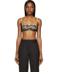 Christopher Kane Black and Nude Lace Overlay Bralette - Lyst