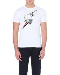 Paul Smith Skull Lightening Cotton-jersey T-shirt - Lyst