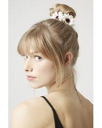 Topshop Daisy Bun Ring white - Lyst