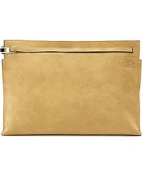 Loewe Large Suede Pouch - For Women - Lyst