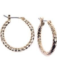 Jones New York - Small Hammered Hoop Earrings - Lyst