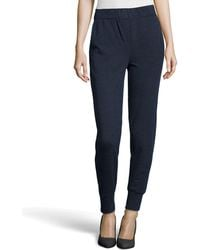 Halston Heritage Tapered Leg Knit Sweatpants - Lyst