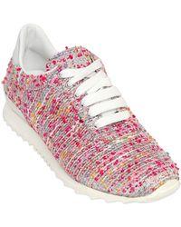Casadei Boucle Tweed Sneakers - Lyst