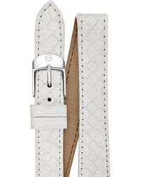 Michele White Snakeskin Double Wrap Watch Strap 18mm - Lyst