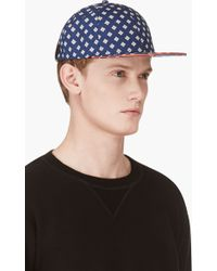 Marc By Marc Jacobs Indigo Floral Chambray Cap - Lyst